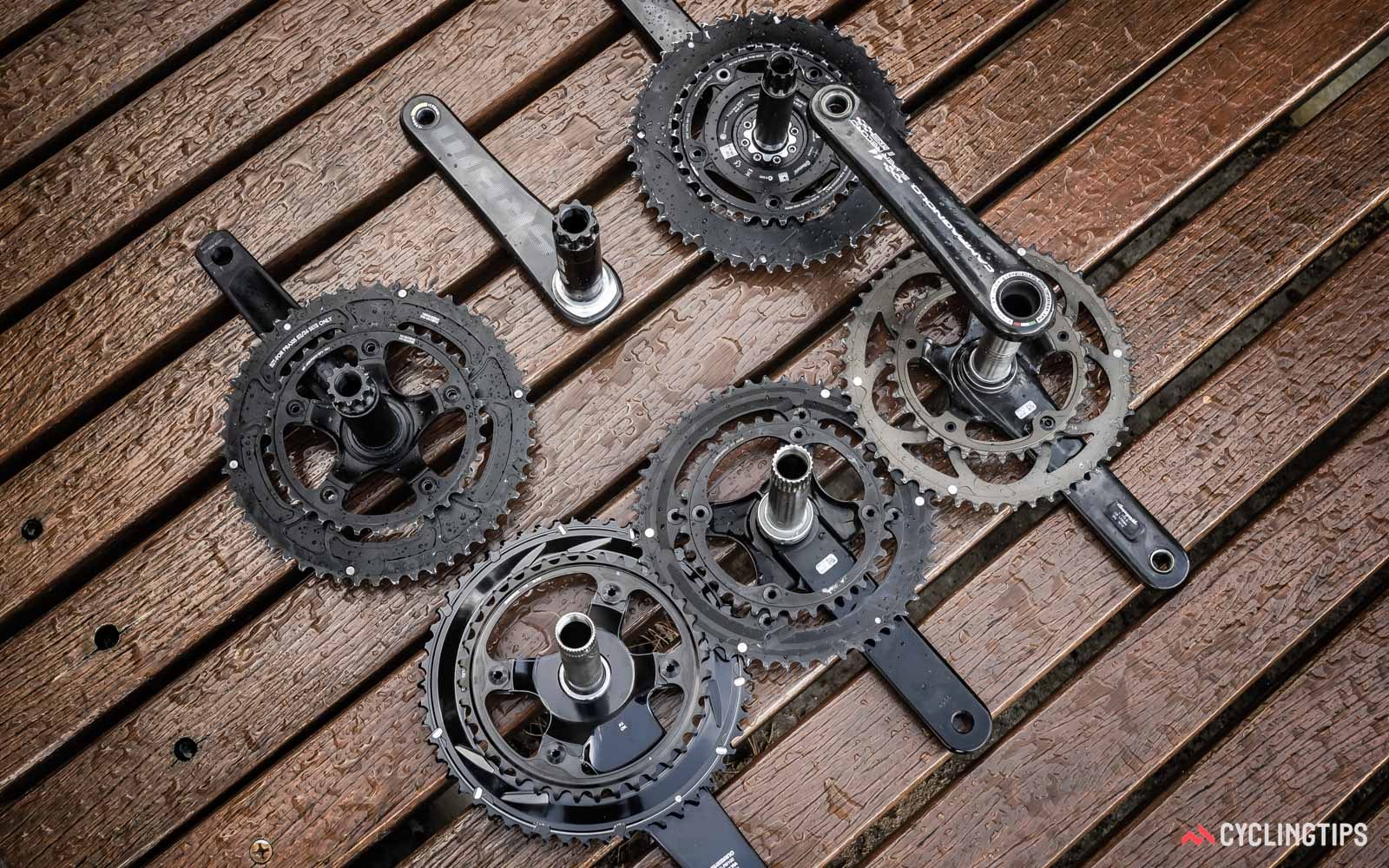 road cranks can have different axles that vary in diameter and length