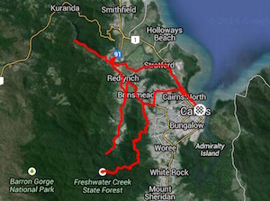 click here to see the  Strava file from day one