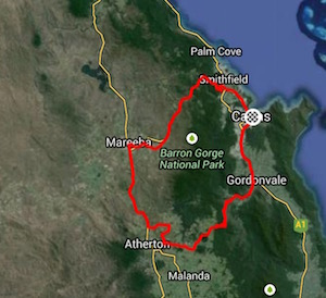 Click here to see the  Strava file from day three