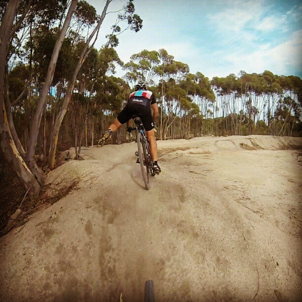 Playing around on the cx bike in the you yangs today. (Instagram)