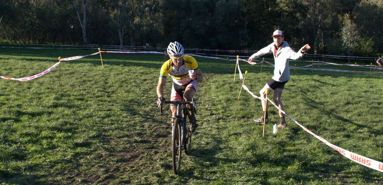 National champion Al Iacuone grabs a brew from a spectator.