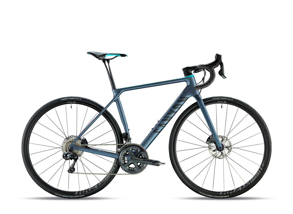The Canyon Endurace CF SLX 8.0 Di2 WMN model features women-specific touch points, a Shimano Ultegra Di2 groupset, and DT Swiss RR21db DICUT wheels for US$TBD / AU$6,300 / £3500 / €4,300. Photo: Canyon Bicycles.