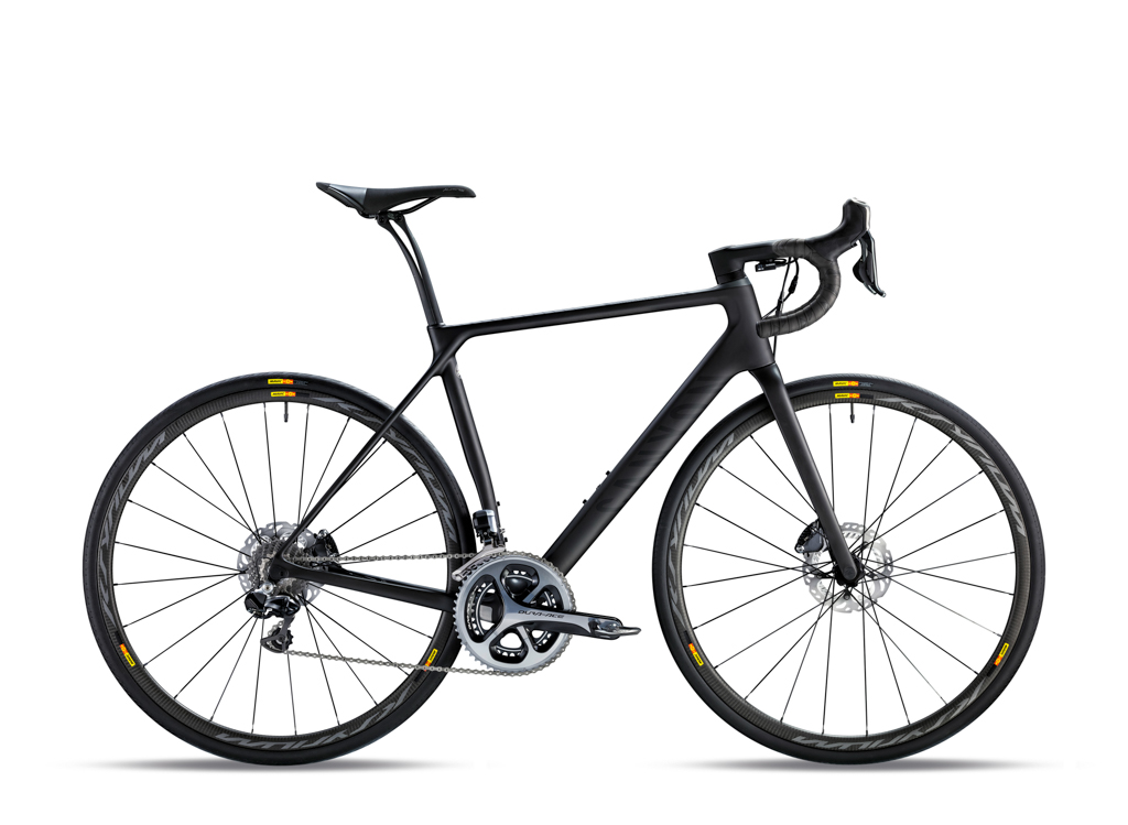 The top-end Canyon Endurace CF SLX 9.0 SL is built with a Shimano Dura-Ace Di2 groupset and Mavic's latest Ksyrium Pro Carbon SL carbon clinchers for US$TBD / AU$9,200 / £5,100 / €6,300. Photo: Canyon Bicycles.