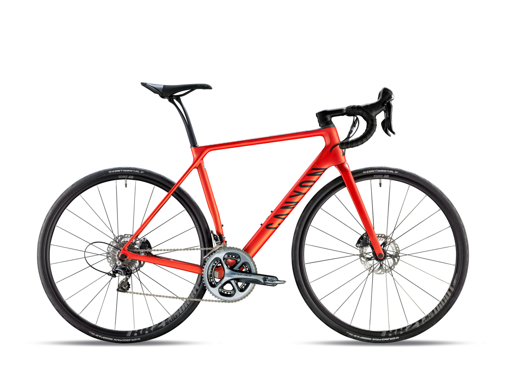 Rounding out the Canyon Endurace CF SLX range is the 9.0, which comes with a Shimano Dura-Ace mechanical groupset and DT Swiss RR21db DICUT wheels for US$TBD / AU$6,300 / £3,500 / €4,300. Photo: Canyon Bicycles.
