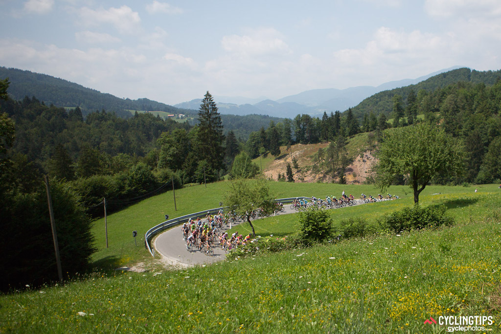 The Slovenian scenery surprised. The lush landscapes and rolling hills made for a beautiful start to the Giro Rosa.