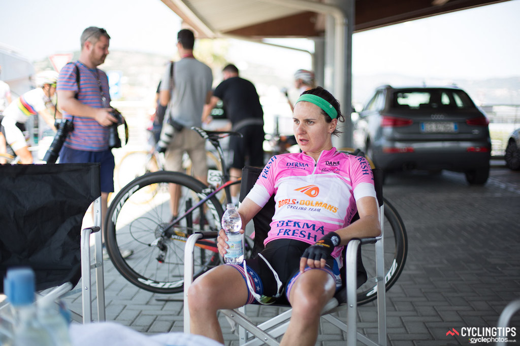 Job well done for Megan Guarnier (Boels-Dolmans) who picked up extra bonus seconds before the final weekend of racing.
