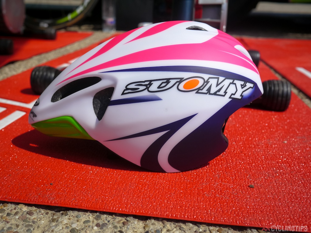 Suomy sponsor the Lampre-Merida team with helmets. Not much is known about their TT offering at this stage.