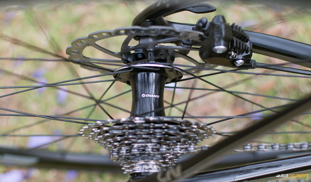 Giant hubs and rims on the Liv Avail Advanced