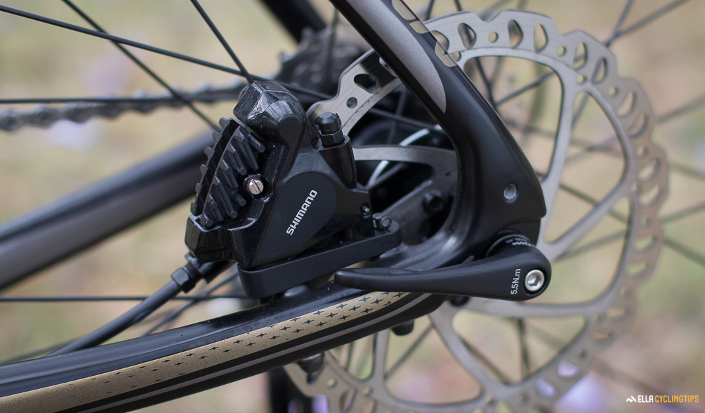 Shimano RS505 disc brakes on Liv Avail Advanced