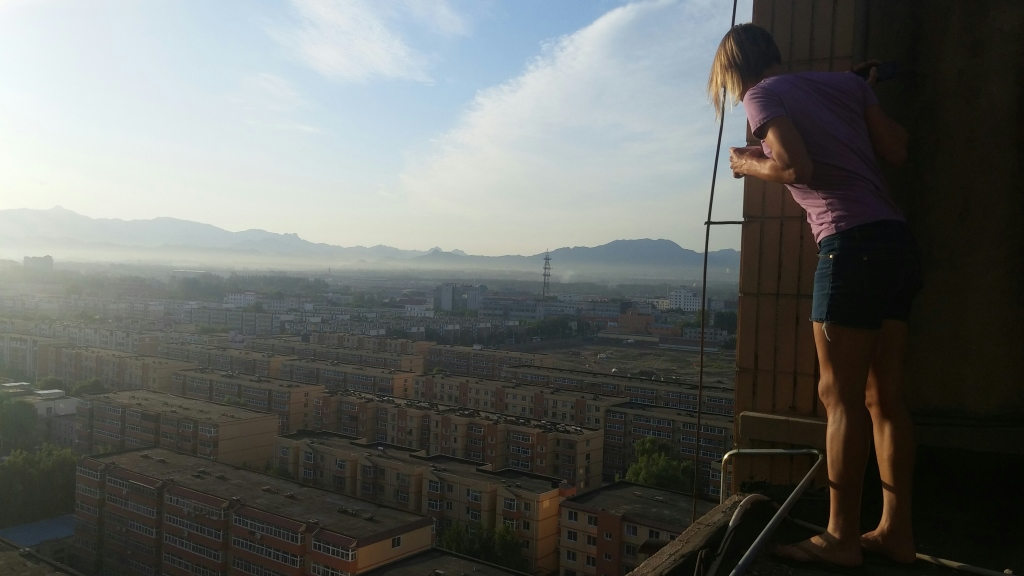 The roof top view of Beijing's 12th ring really offered a shockingly different view of the area.