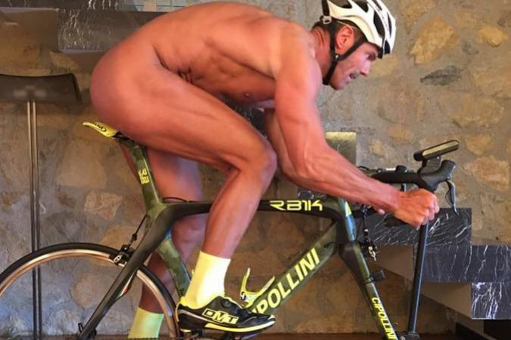 Be safe, wear a helmet at all times on a bike. Just like Cipollini.