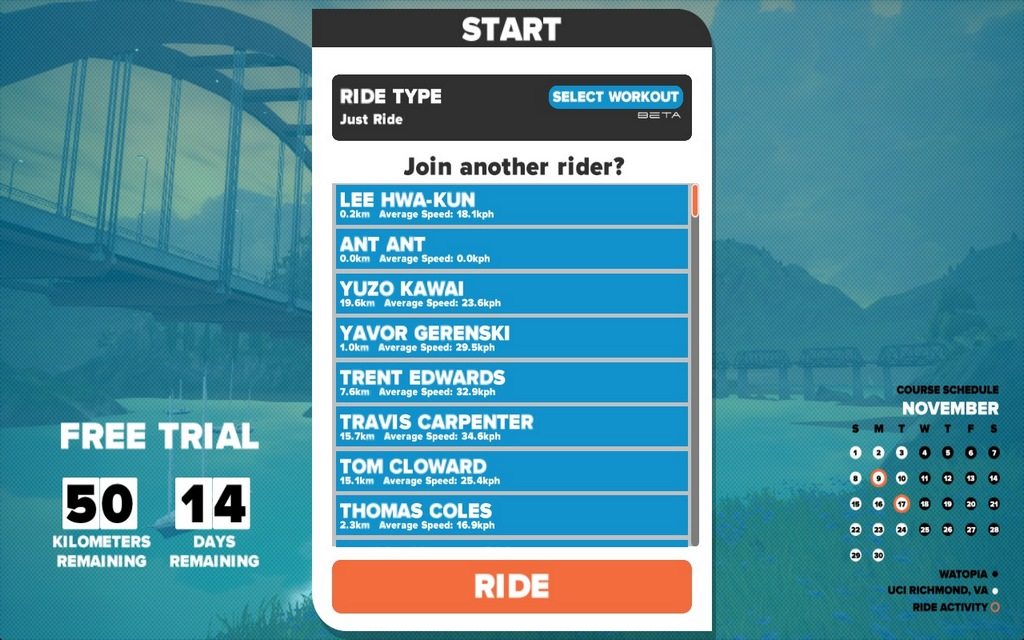 The workouts feature is only part of the Zwift experience.