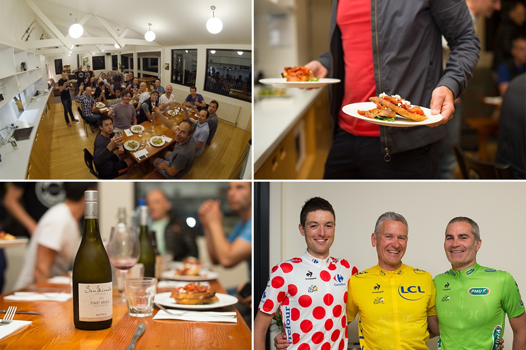"""Mogul Ski Lodge came with our very own chef who cooked us up a feast every day. This allowed us to take care of the important things, such as handing out winners jerseys for ridiculous things like """"best tan lines"""", """"most punctures"""", """"biggest melt-down"""", etc."""