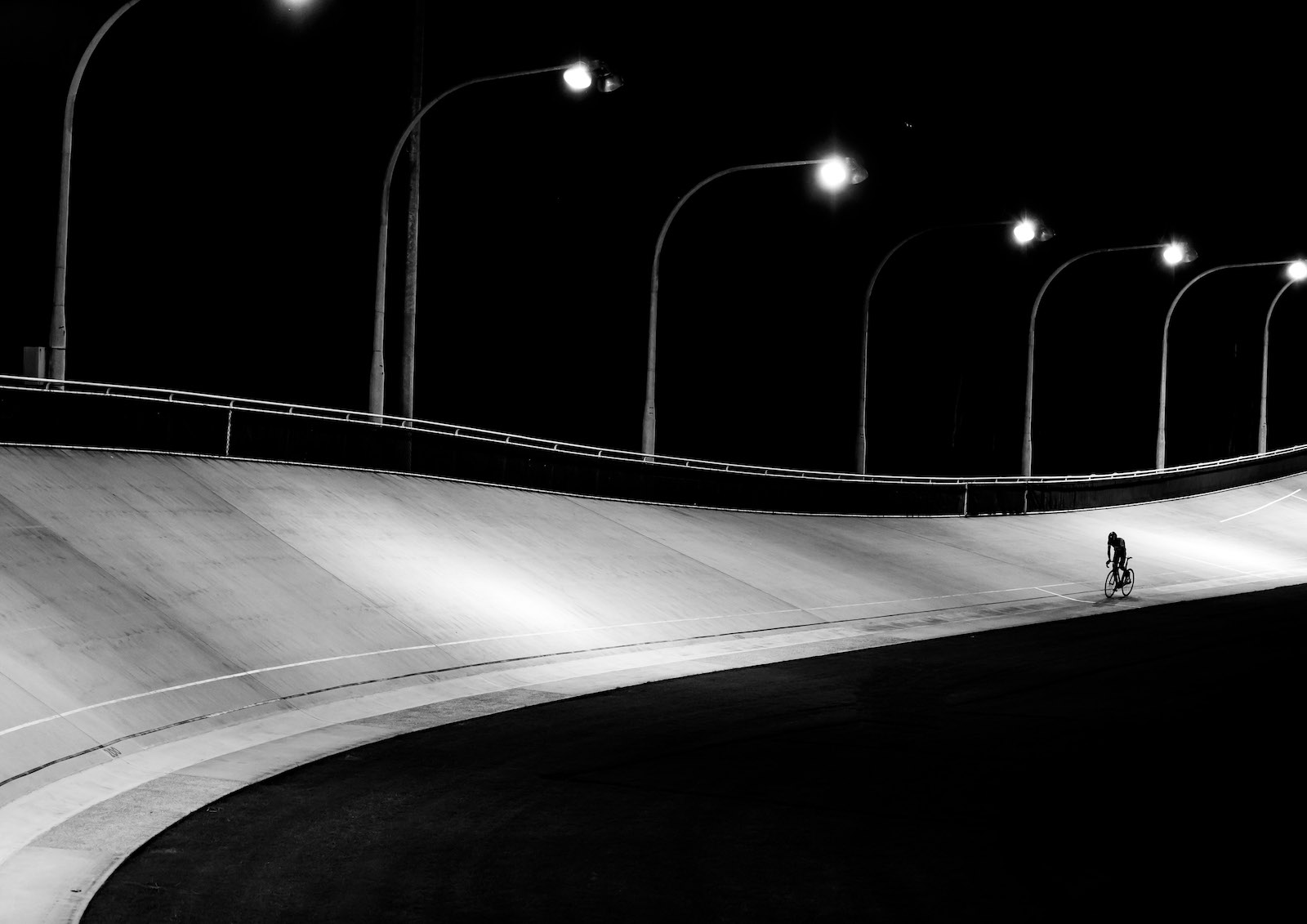 """Davor Jakoljevic, Australia. """"This image is part of collection of photographs I have taken as my final project for my Photo Imaging course graduation at CATC Sydney Design School. I always loved monochrome and I wanted to create different cycling images to standard sport like photos, this was the final result."""" DSLR. @davorjakov"""