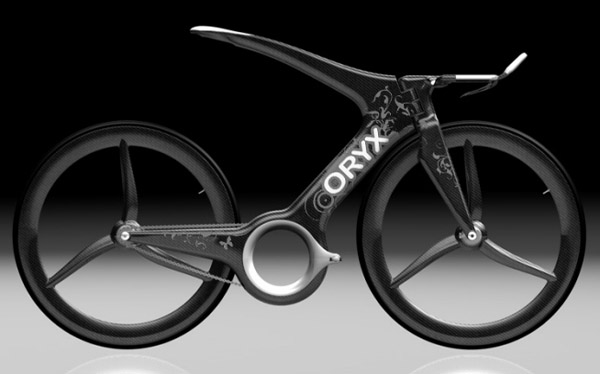 The Oryx time trial bike, designed in 2007 by Harald Cramer.