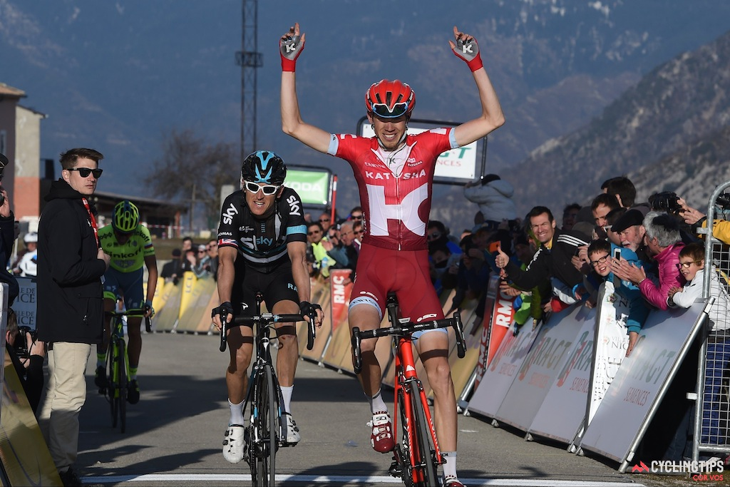 Zakarin won stage 6 of this year's Paris-Nice en route to fourth overall.
