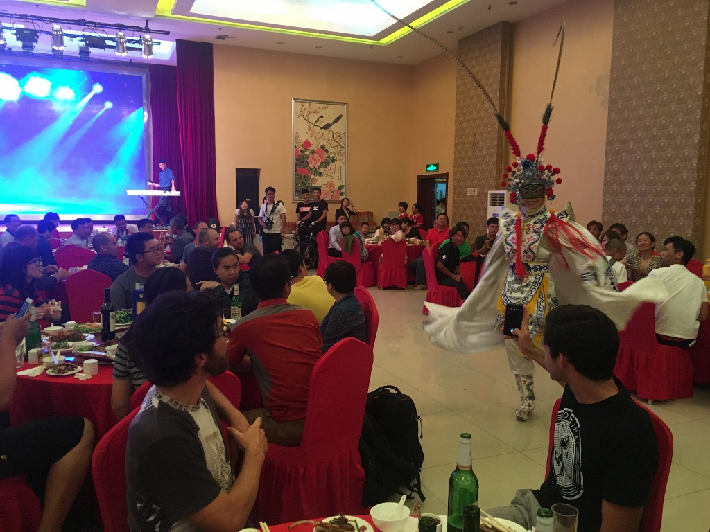 The event organizers seem to take pride in putting on a good a party,