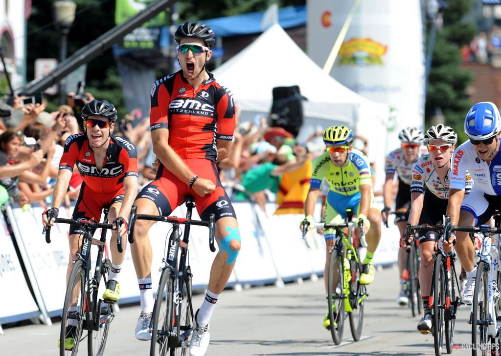 In the second stage race of his return to racing after a career-threatening injury, Taylor Phinney (BMC Racing) won the opening stage of the 2015 USA Pro Challenge, in Steamboat Springs. Photo Brian Hodes/Cor Vos.