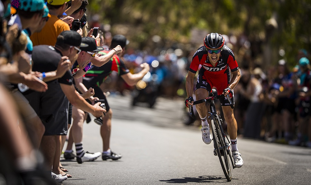 Richie Porte on his way to winning stage 5 at the 2016 Tour Down Under