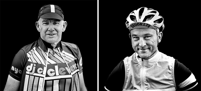 The Road Race Project founders Paul Munro (left) and Brad Priest (right).