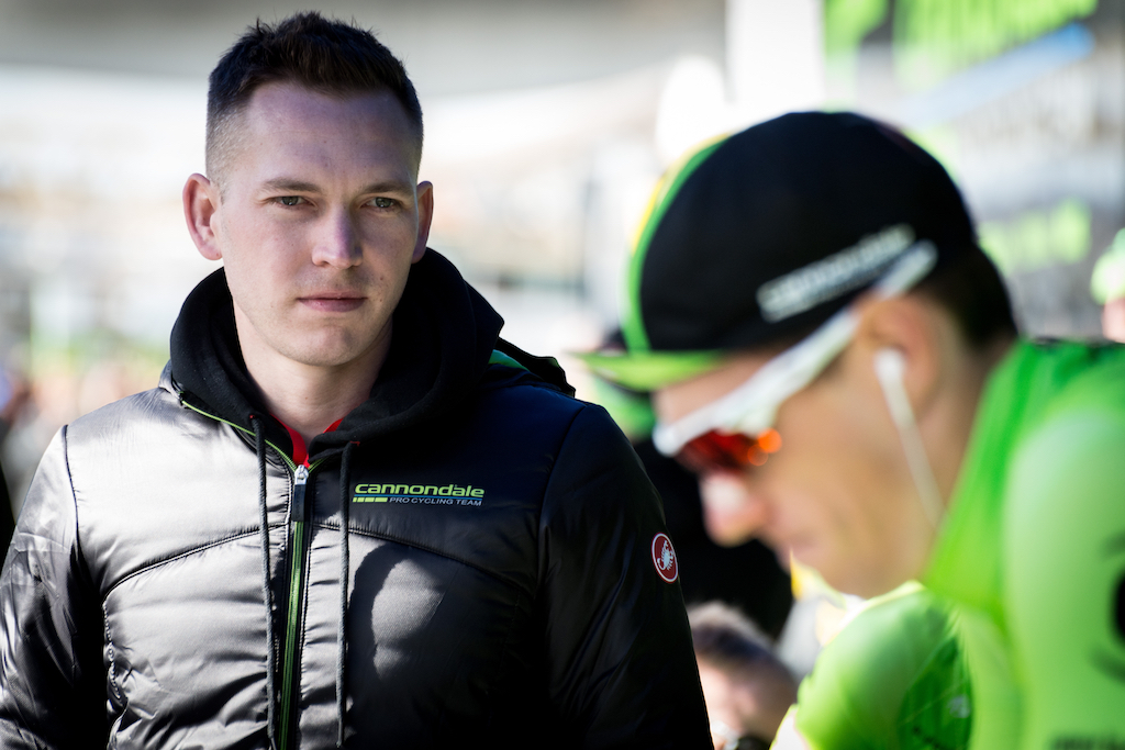 Cannondale communication director Matthew Beaudin, at the prologue of the 2016 Paris-Nice
