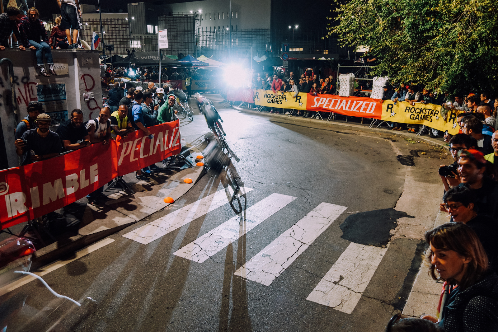 """Mark Šajn, Slovenia. """"Racers keeping their balance through the last corner before the final straight at the 2016 Red Hook Criterium in Milano, Italy."""" DSLR. @ruddgio"""