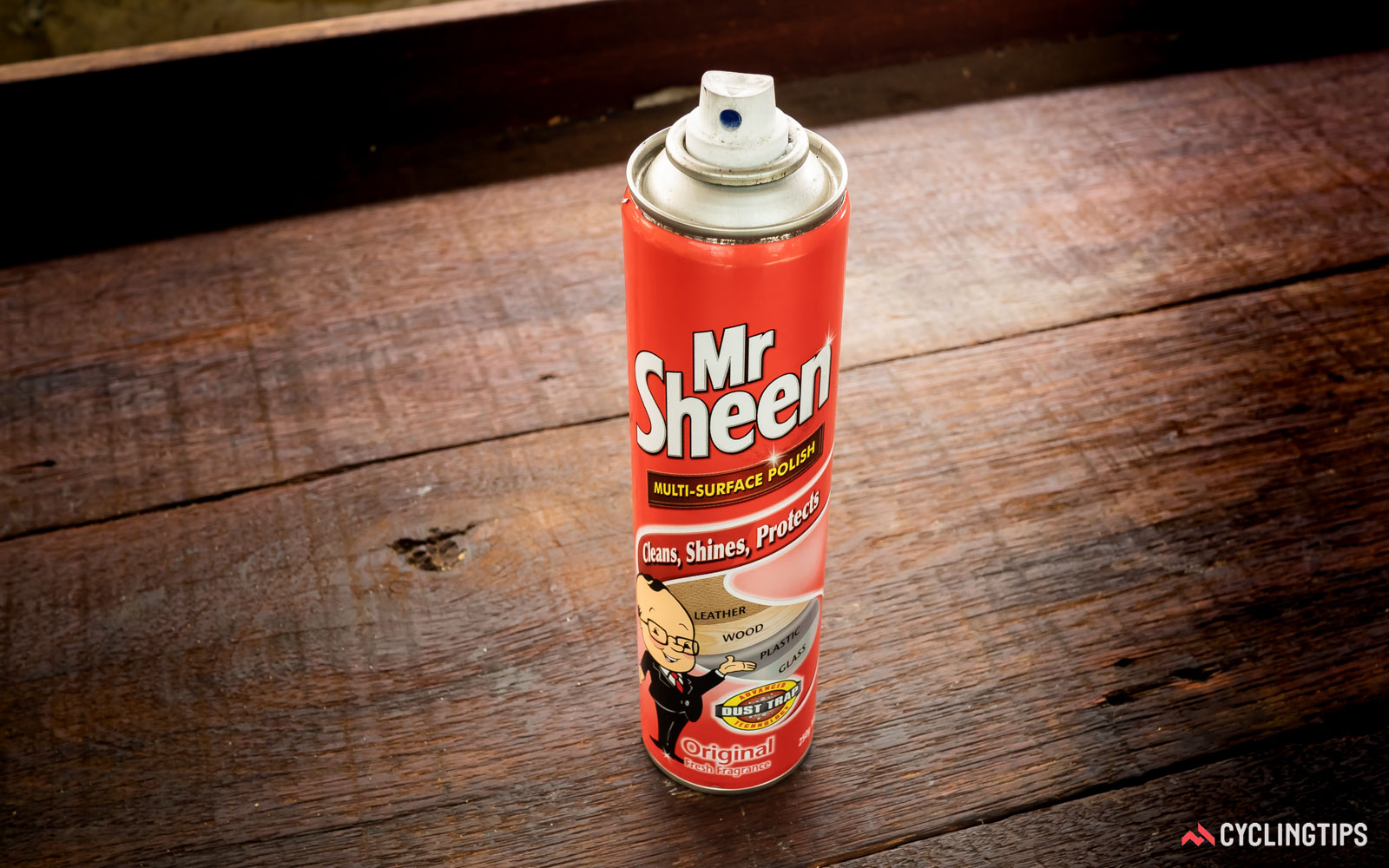 Mr Sheen all-surface polish perfect for cleaning bikes