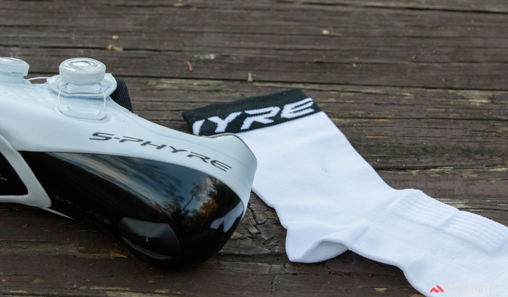 The S-Phyre Tall socks pack a number of interesting features. Most notable is the padding for the top of the foot.