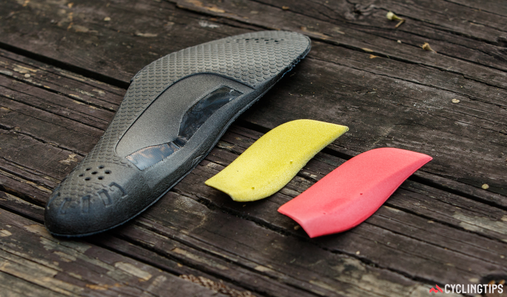 The inner soles are somewhat basic but optional arch support inserts are included.