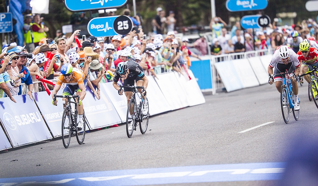 Bonus seconds on the line in Victor Harbor gave Simon Gerrans a bit of a buffer going into the Willunga stage.