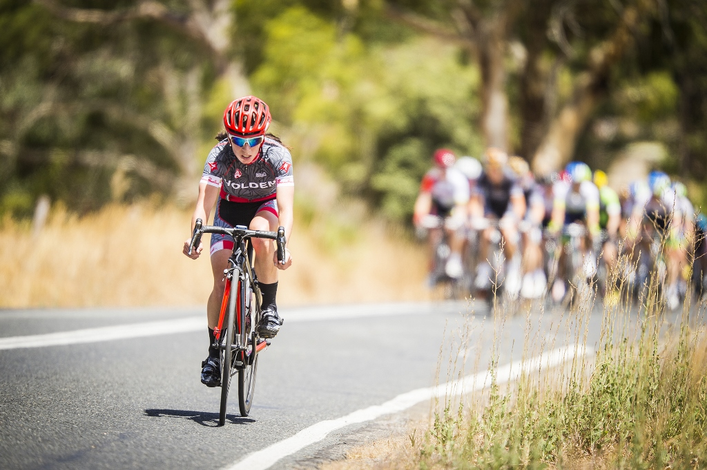 Holden Racing's Charlotte Lucus on an early solo break