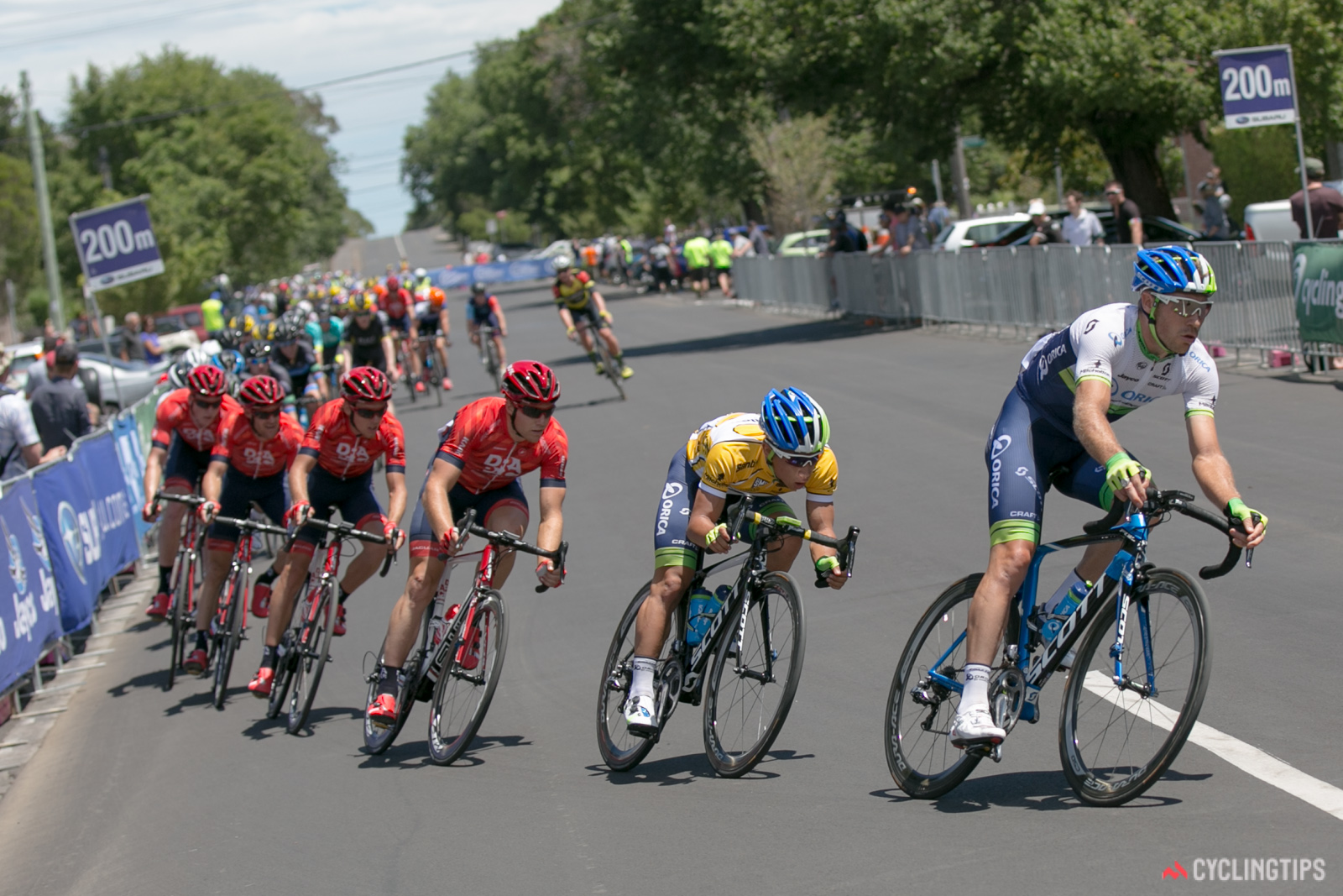 Take note of how far it is from the final corner to the finish line and position yourself accordingly in the final sprint.