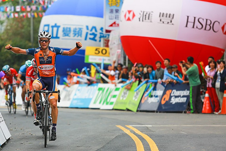 Wins for Nathan Earle on the UCI Asia Tour, such as this one at the Tour of Taiwan, were crucial to securing a contract with Team Sky.