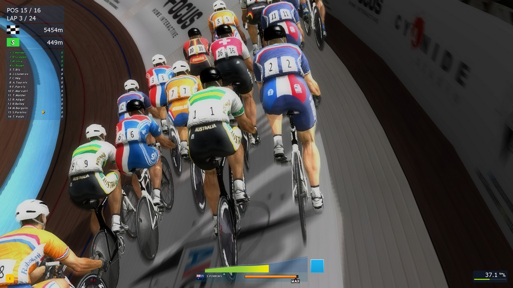 All the riders look the same in track mode and, frustratingly, you can't cause crashes no matter how hard you try.