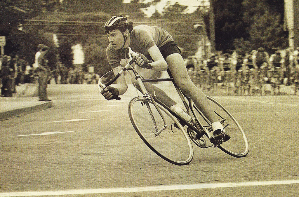 Tom (without his trade mark mustache) winning  1973' Montery butterfly crit-2.