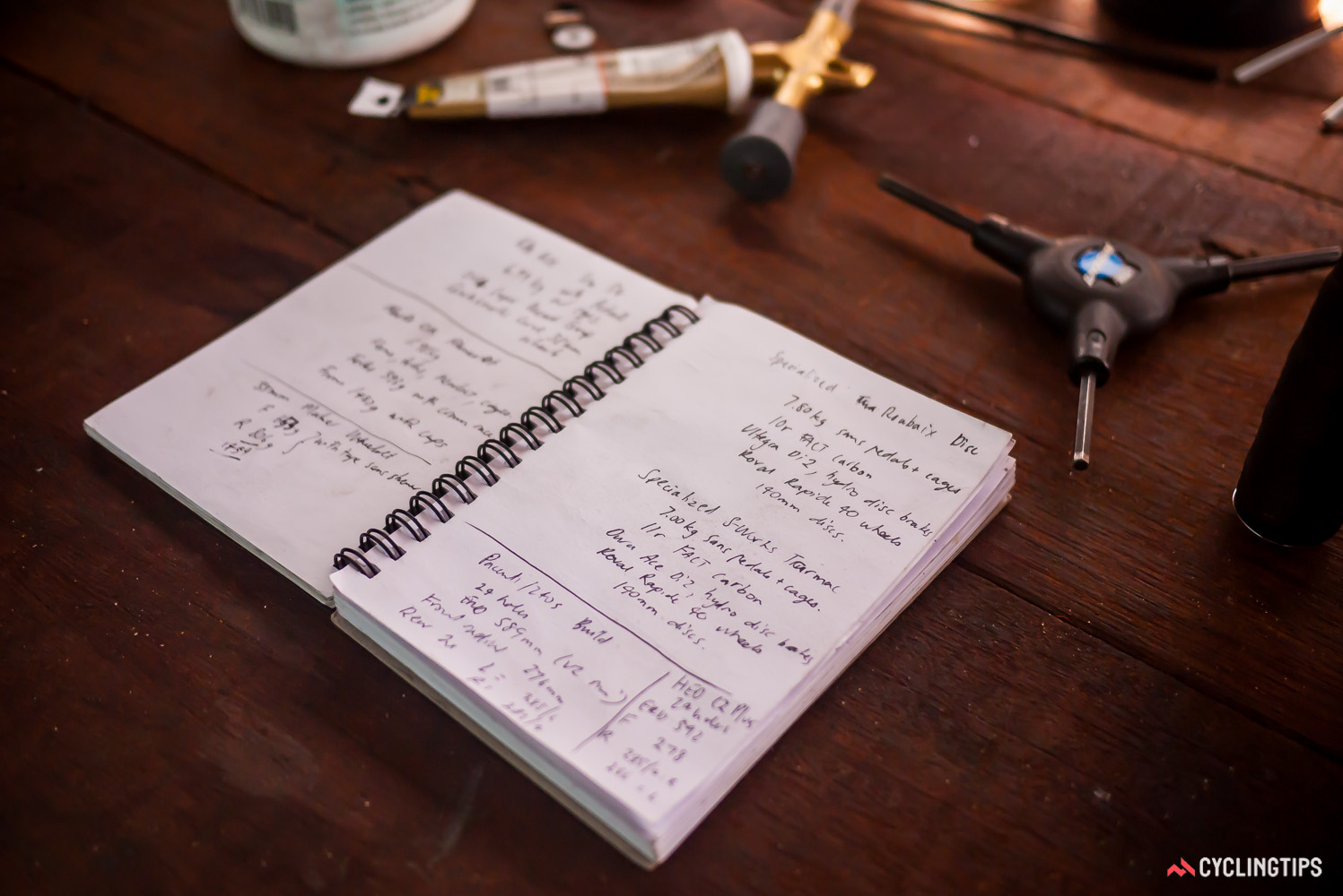 """One of the first pieces of advice Wade gave me was """"a product review can never have too much detail."""" I've come to rely on notepads to keep a track of all the relevant details."""
